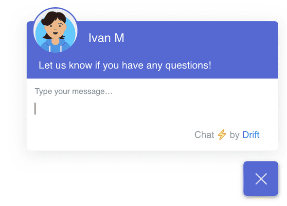 In-app chat widget